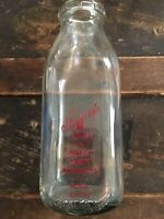 Vintage Half Pint Milk Bottle Stafford's Dairy Peoria Illinois