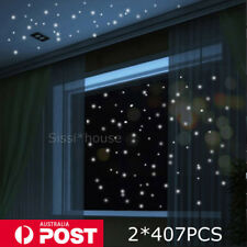 2 SET 407 Glow In The Dark Star Wall Stickers Round Dot Luminous Kids Room Decor