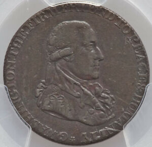 1795 1/2 P Washington Grate Halfpenny PCGS XF45