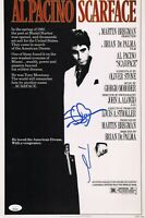 "AL PACINO & STEVEN BAUER Authentic Hand-Signed ""SCARFACE"" 11x17 Photo (JSA COA)"
