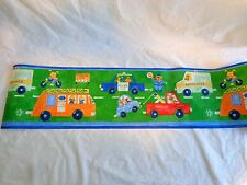 Wallpaper Border Roll VEHICLES AND ANIMALS Cars Trucks Partial 4+ Yards Kids