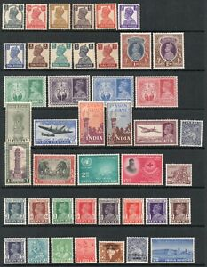INDIA KGVI LARGE ALL-DIFFERENT *** MINT *** GROUP