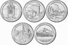 2010 US National Park Quarters Five Coins Uncirculated Straight from the US Mint