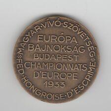Orig.Teilnehmermedaille   Weltmeisterschaft im Fechten BUDAPEST (Ungarn) 1933 !!