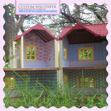 Summer Wallpaper | for Sylvanian Families BEECHWOOD HALL #SF4531 Calico Critters