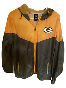 NFL Team Apparel Green Bay Packers Full Zip Spring Jacket Coat NWT NEW!