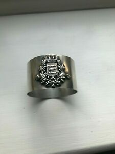 Silver napkin ring Caudebec coat of arms