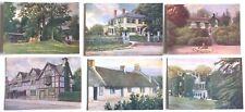 Set of 6 Famous Men's Homes  - artist R. Atkinson Fox