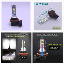 2Pcs 12V 24V H11 H8 LED Bulb 1400LM 6000K Pure White DRL Car SUV Fog Light Bulbs