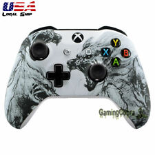 Wolf Soul Soft Touch Grip Faceplates Shell for Xbox One S One X Game Controller