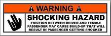 WARNING SHOCKING HAZARD HELMET STICKER BUMPER STICKER LAPTOP STICKER