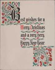 Mary Elizabeth Lee.  Vintage Christmas Card. Printed Name.  RH.693