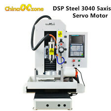 2200w Steel 5axis 3040 Cnc Machine Metal Engraver Cutting Router Servo Motor Dsp