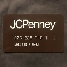 Vintage JC Penney Charge Credit Card Collectible