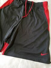 Nike Basketball Athletic Shorts Red And  Dark Gray Mens Large