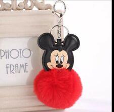 Porte clé Minnie rouge pom pom fourrure Neuf