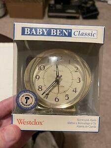 NEW Vintage Westclox Baby Ben Classic Keywound Wind-Up  Alarm Clock NIB