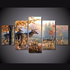 Modern Abstract Oil Painting Wall Decor Art Poster HD Print deer elk landscape 2