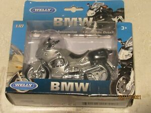 1:18 Welly BMW R1100 RT Motorcycle Bike Model New in Box Silver exclnt