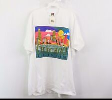 NOS Vintage 90s Mens XL Chicago Illinois Spell Out Abstract Skyline T-Shirt
