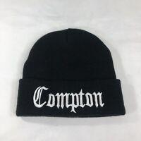VTG Compton Hat Beanie Stocking Cap Rap Hip Hop 90s NWA West Coast Street Script