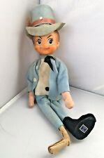 Vintage Elf Pixie Japan Top Hat Blue Suit Leprechaun Shelf Sitter