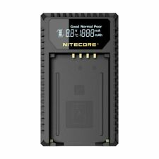 Nitecore ULM240 Smart USB Battery Charger with LCD Display for Leica BP-SCL2