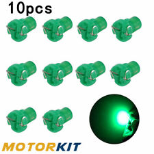 10Pcs T3 Green Wedge SMD LED Instrument Cluster Dash Base Climate Lights Bulbs