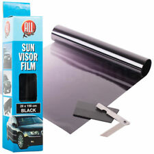 20 X 150cm BLACK SUN VISOR TINT FILM STRIP KIT CAR VAN WINDSCREEN UV SHADE 636