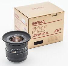 SIGMA AF ZOOM 18-35mm 18-35 mm 1:3. 5-4.5 3.5-4.5 - Minolta AF Dynax Digital Sony