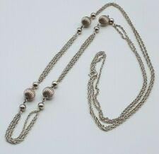 925 Silber Kette / Collier - ca 89 cm lang  14.12