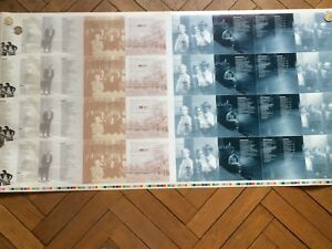 BRUCE SPRINGSTEEN uncut sheet from greatest hits booklet inner pages # 2