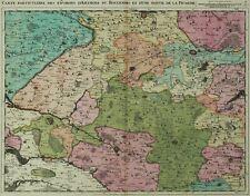FRANKREICH Artois & Picardie - Fricx - kolorierte Karte Kupferstich 1708
