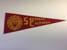 "VTG 1950s University of Southern California College Hormel Pennant 3.5"" x 9.5"""