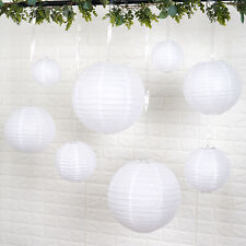 8 WHITE Assorted Sizes Hanging Paper Lanterns Party Wedding Events Decorations