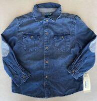 Boys Genuine Kids by Oshkosh Button Up Blue Shirt Size 5T