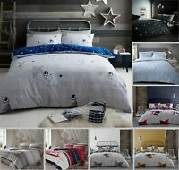 Christmas Fest 100% Brushed Cotton Flannelette Duvet Cover + Pillow Case Bed Set