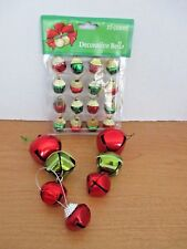Lot of Bell Christmas Ornaments~2 Sets of 3, 1 Single, I Pkg of 16 Mini Bells