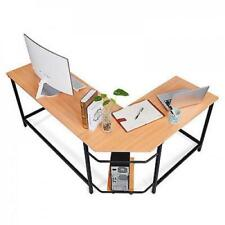 L-Shaped Corner ordinateur Desk PC Portable Table Workstation Home Office, wooden