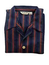 John Randall England Regimental Striped PJ Set Top & Bottoms cotton Size 42 NWOT