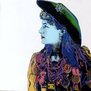 Andy Warhol Screenprint Annie Oakley 1986 Unsigned Trial Proof 38 x 38