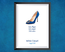 Personalised SATC quote - A4 PRINT - Manolo Blahnik. Sex and the city