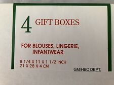 "White Cardstock 8 1/4X11X1 1/2"" Gift Box Boxes - Lot of 4"