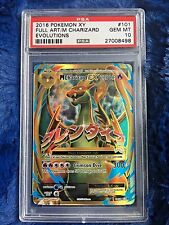 2016 Pokemon XY Evolutions Mega M Charizard EX Full Art PSA 10 Gem MINT 101/108