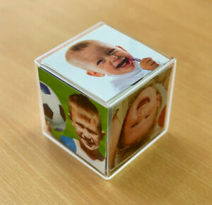 Acrylic Photo Cube - Display 6 photos in one cube!