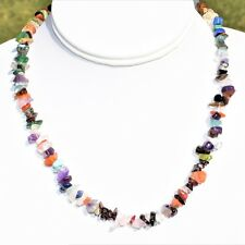 """CHARGED 18"""" Every Crystal Chip Necklace Healing Energy (40+ Crystal Types) WOW!!"""
