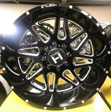 IN STOCK! 4- 22x12 Hostile Sprocket Black Milled H108 Wheels 8x6.5 Chevy 8x165.1