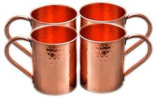 4 Hammered Moscow Mule Mug Drinking Cup 100% Solid Copper 16 Oz