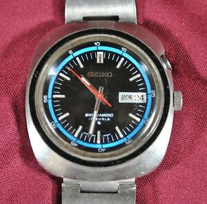 Vintage Seiko Bell-matic ALARM WATCH with Original Band Model # 4006-6021