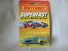 1985 Matchbox Superfast #10 Pontiac Firebird Racer Car SF18 (Macau 1/64 Blue)